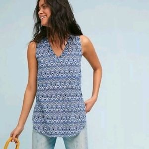 T.la Anthropologie split hem Breezy tank top
